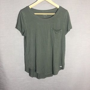 Hollister simple green tee shirt